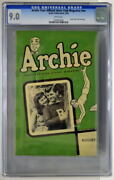 Archie Your Official Store Club Magazine Nn 8/49 Cgc 9.0 1949 Archie Cover Rare