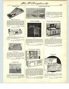 1941 Paper Ad 2 Sided Toy Hoosier Type Kitchen Cupboard Cabinet Range Oven