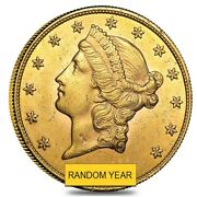 20 Gold Double Eagle Liberty Head - Almost Uncirculated Au Random Year