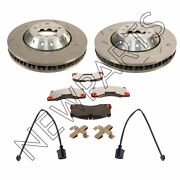 For Porsche Set Of 2 Slotted Disc Brake Rotors W/ Pads+mouting Hw And Sensors Oem