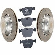 For Bmw E85 E86 X6 M Set Of 2 Rear Vented Drilled Disc Brake Rotors W/ Pads Oem
