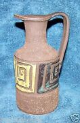 Mid Century Italian 7 inch Pottery Pitcher