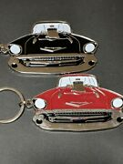 57 1957 Chevy Belair Emblemgreat Detailyour Choice Red Or Black F4