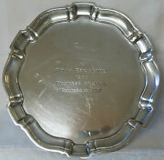 Vintage Poole Chippendale Sterling Silver Award Plate - 1962