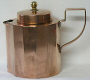 Heinrichs Arts And Crafts Pure Copper Covered Creamer