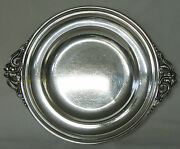 Randahl Shop Sterling Silver Stepped Tray Floral Arts And Crafts Applied Handles