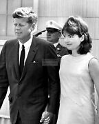President John F. Kennedy And Jacqueline Leave Otis Afb 1963 - 8x10 Photo Op-855