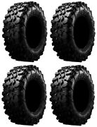 Full Set Of Maxxis Carnivore Radial 8ply Atv Tires 28x10-14 4