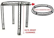 9.2 Ft Diameter Trade Show Exhibition Booth Trusses Dj Stage Metal Circle Truss