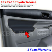 Fits 05-15 Toyota Tacoma Leather Door Panel Armrest Replacement Cover Black 2pcs