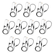 10 X High Quality Radio 2-wire Headsets Clear Tube For Motorola Dp3400 Dp3401