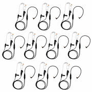10 X 2-way Radio Clear Coil Tube 2-wire Headsets For Motorola Sl500 Sl4000