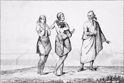 Usa - Florida Indians Indian Women And Old Man - Engraving From 19th Century