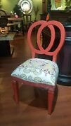 Steven Shell Oso Dining Chairs Set Of 6 Cherry Red Distressed Finish