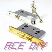 Mortice Bathroom Door Or 3 Lever Sash Lock And Keys   2.5 Or 3 Brass Or Chrome