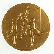 Women's Sports Netball By Pinches Thin, Embossed Striking Gilt-bronze 38mm