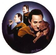 Star Trek 1994 Original Art Data Next Generation Tng Spot Keith Birdsong Plate
