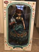 Disney Store Usa Import - 17 Anna Frozen Fever Doll Limited Edition - 1 Of 5000