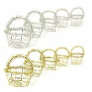 Mini Favour Wire Baskets In Gold Or Silver - Wedding Sweets Bird Cage Boxes