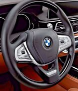 Bmw G11 G12 G30 5 7 Piano Black Wood And Leather Heated Steering Wheel Individual