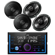 Jvc Double Din Car Bluetooth Usb Car Receiver, 4x Pioneer 6.5 Coaxial Speakers