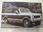1977 International Scout 11 X 17 Photo Picture