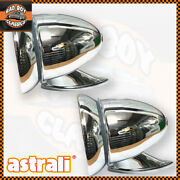 Classic Vintage Style Car Chrome Racing Bullet Torpedo Wing Mirrors Chrome X2