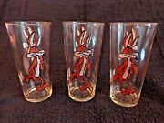 Vintage Pepsi Wile E. Coyote Looney Tunes Wb 1973 Collectors Series Glasses 3