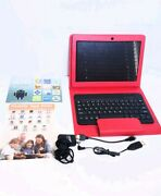 Nuvision Red 10 Hd Ips 16gb Tablet W/ Keyboard And Case Wifi Bluetooth Lkn