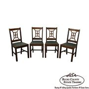 Michigan Chair Co. Antique Set Of 4 Mission Style Dining Chairs