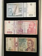 Romania Paper Money Collection Lot High Value
