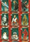 2017 Topps Star Wars Last Jedi Red Parallel 88 Cards Of 100 Near Complete Set
