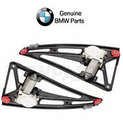 Pair Set Of Let And Right Window Regulators W/ Motor Oes For Bmw E38 7-series