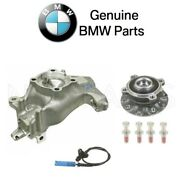 For Bmw E39 Front Driver Left Steering Knuckle And Wheel Hub W/ Abs Sensor Genuine