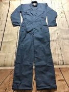 New Industrial Work Coverall Navy/post Blue By Reed-usa- 65polyester/35cotton