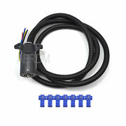 1pc Dc 12v 7-way Blade Pin Round Rv Tow Bar Electrical Trailer Plug W/ 2m Cable