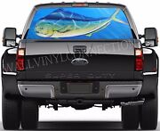 Fishing -pick-up Truck Perforated Rear Windows Graphic Decal Decal