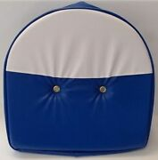 Blue And White T295bw Tractor Pan Seat Cover For Ford John Deere Massey Harris