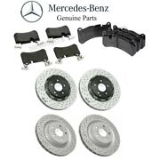 For Mercedes W209 Clk55 Amg Front And Rear Brake Pad Set And Disc Brake Rotors Kit