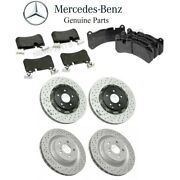 For W209 Clk55 Amg Front And Rear Brake Pad Set And Disc Brake W/ Sensor Kit