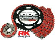 Red 2000-2003 Cbr954rr Rk Max-x 520 15/43t Quick Accel Chain And Sprockets Kit