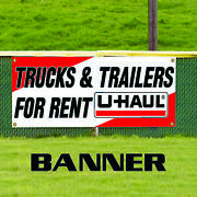Trucks And Trailers For Rent Business Advertising Banner Sign