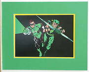 Green Lantern Green Arrow Pinup Poster 1978 Professionally Matted