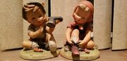 Erich Stauffer Open Laces And Sandy Shoes Figurine Set