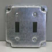 10 Steel City Rs5 4 Square Cover 1/2 High Two Toggle Switch Crushed Corner
