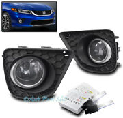 Bumper Driving Fog Light Chrome W/6k Hid+switch For 13-15 Honda Accord Coupe 2dr