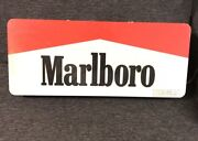 """Rare Marlboro Electric Fluorescent Light Sign Double Sided 28""""x12"""" From 1995"""