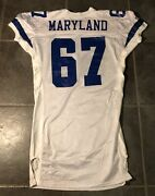 Dallas Cowboys Russell Maryland Apex Game Jersey 52 Long Stretch Sleeves 1994
