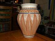 "GARY CHILDS N.C. HAND MADE TERRA COTTA CLAY POTTERY VASE PLANTER 13 1/4"" TALL"