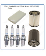 Tune Up For 02-05 Honda Civic Acura Rsx 2.0l4 Sparkplug Air Cabin And Oil Filters
